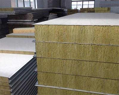 岩棉夹芯彩钢板